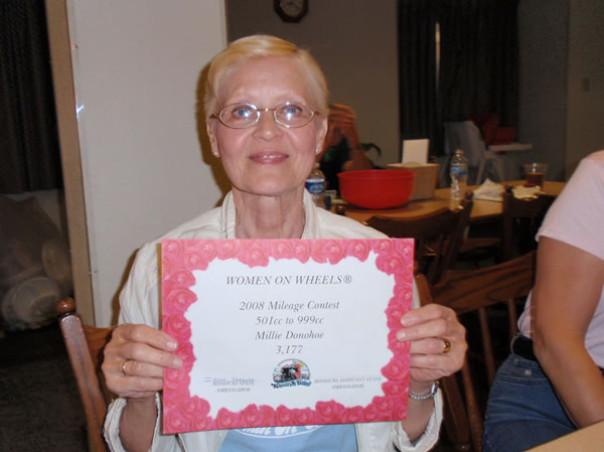 Millies Mileage Certificate